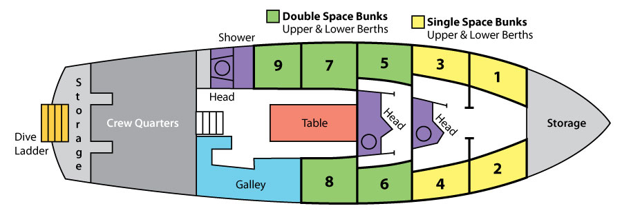 Deck Plan Morning Star Grundriss