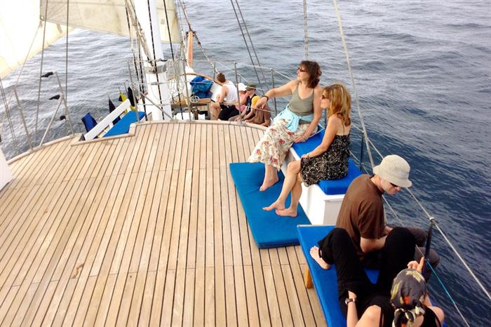Bow & Sun Deck area - Cachalote Galapagos