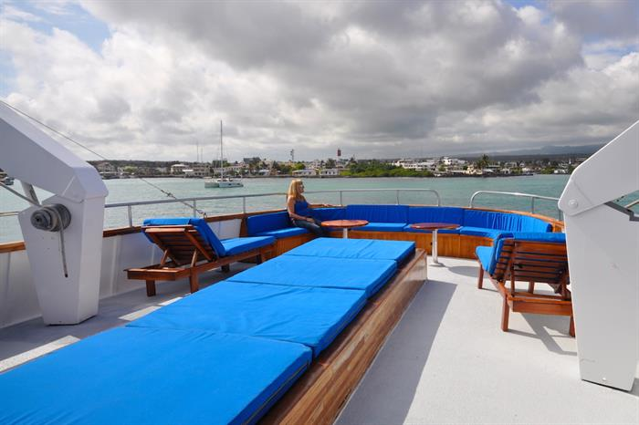 Top deck relaxation - Beluga Galapagos