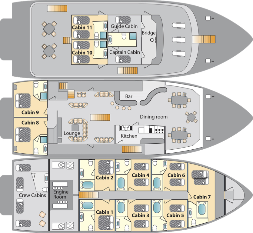 Galaven Deck Plan floorplan