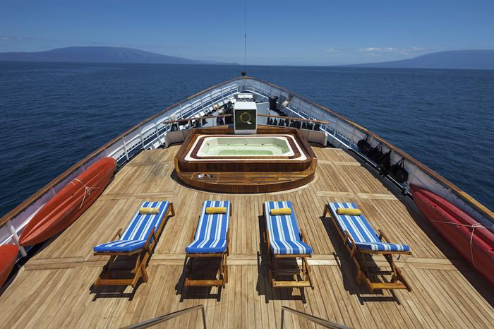 Sun Deck with Hot Tub - MV Evolution Galapagos