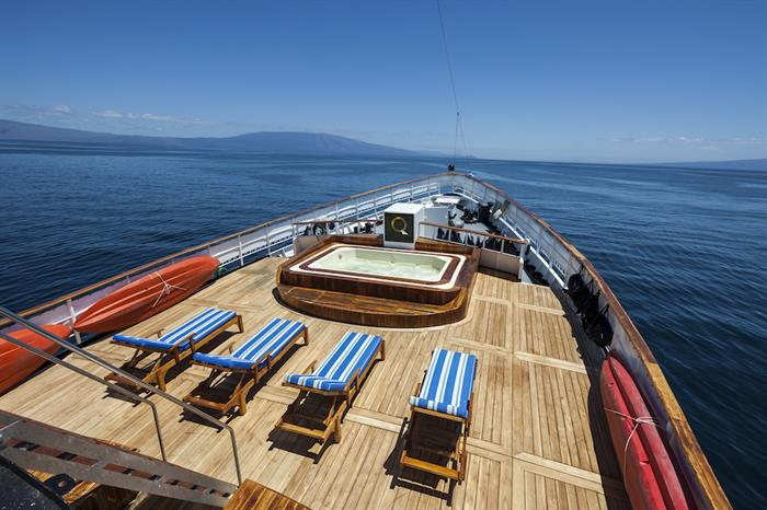Spacious Sun Deck with Hot Tub - MV Evolution Galapagos