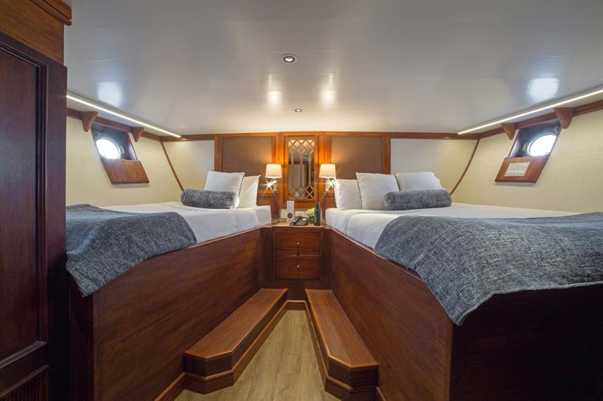 Twin Queen Deluxe Stateroom