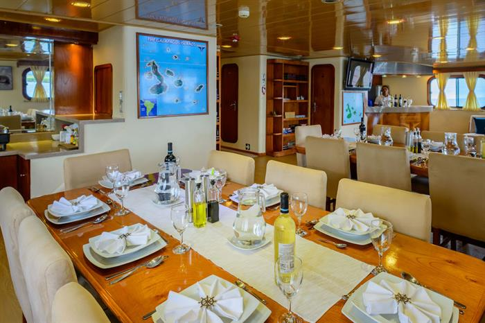 Indoor Dining Area - Galapagos Seaman Journey