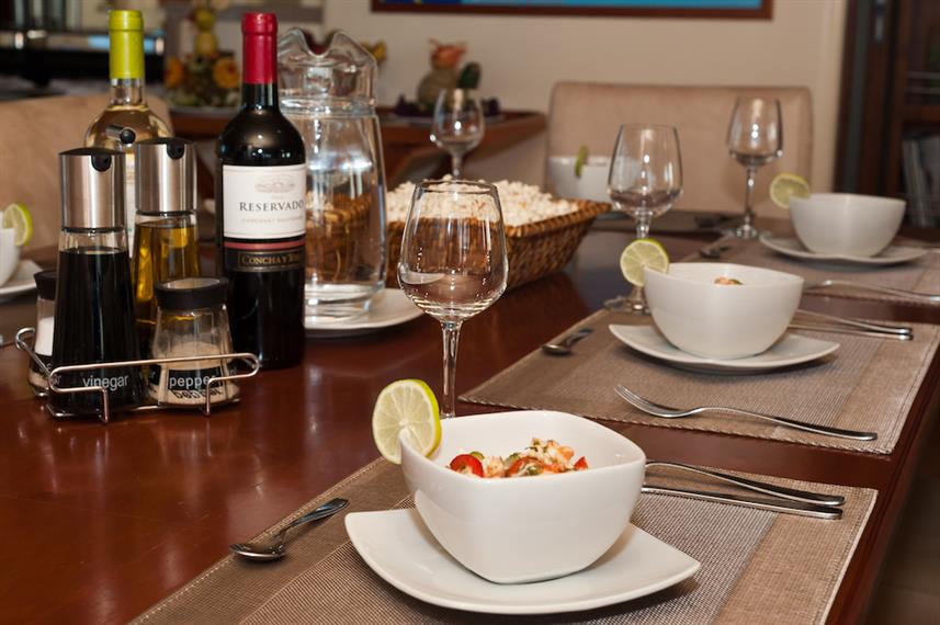 Fine dining aboard Galapagos Seaman Journey
