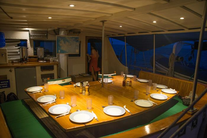 Open Air Dining Area - Beagle Galapagos