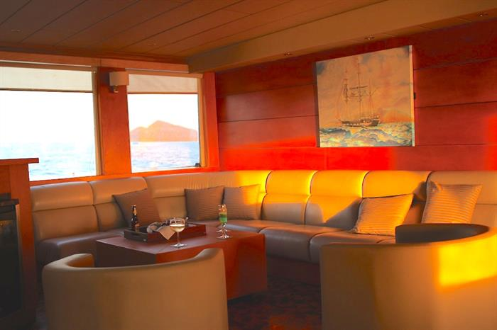 Indoor Salon Area - Millennium Yacht Galapagos