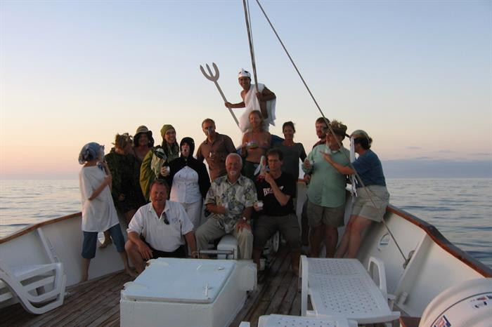 Make fast friends aboard the Samba Galapagos