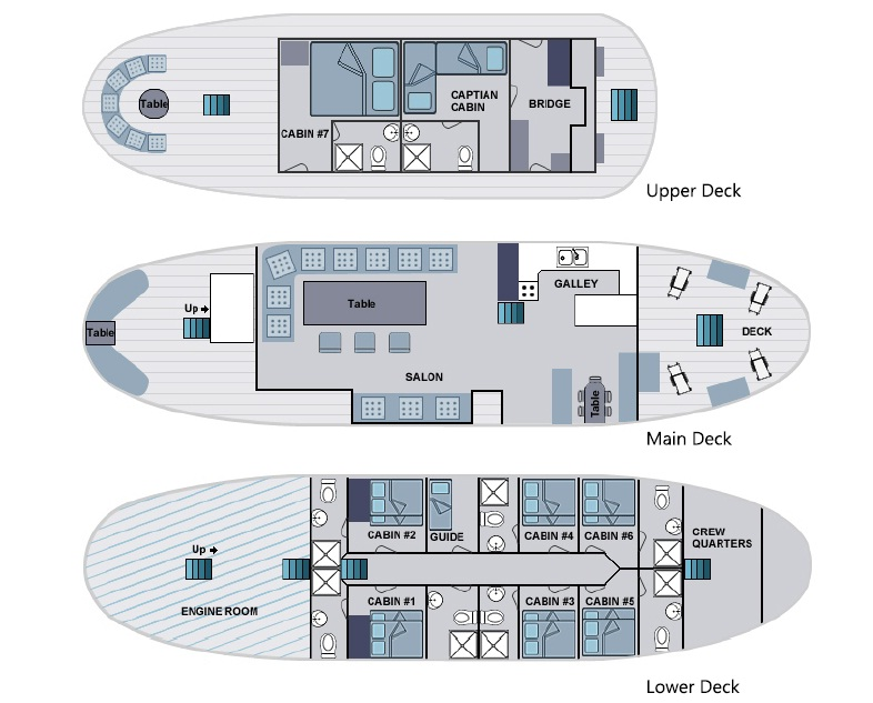 Deck Plan - Samba Galapagos floorplan