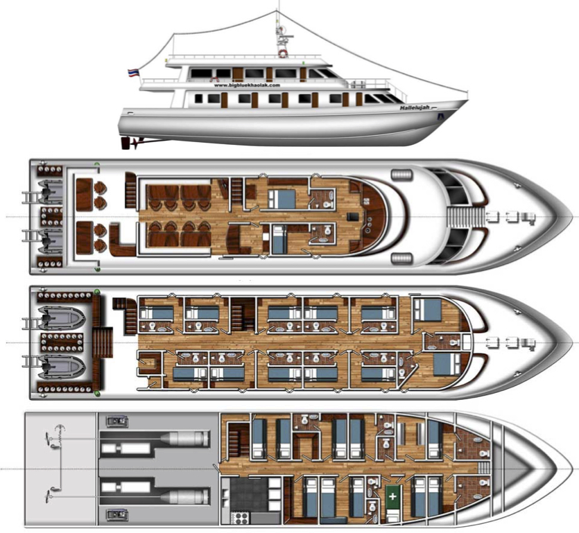 Hallelujah Deck Plan floorplan