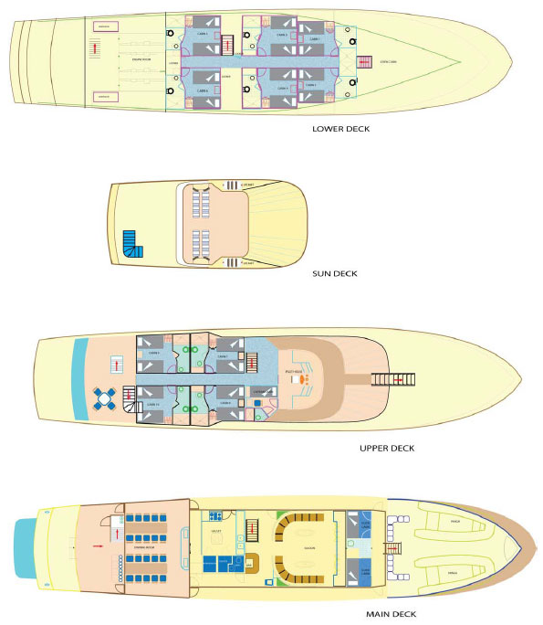 Tip Top IV Deck Plan Grundriss