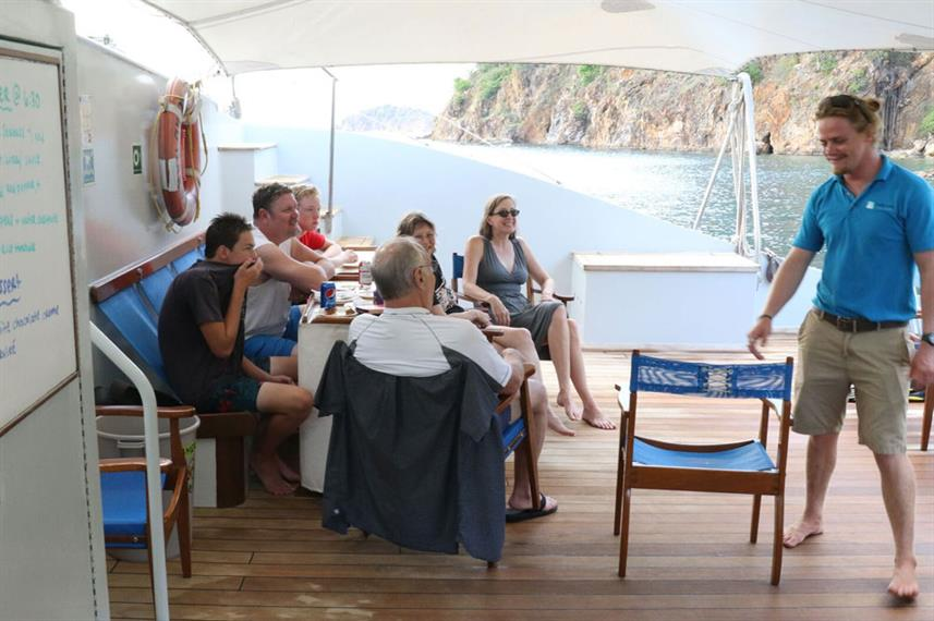 Outdoor Lounge - Cuan Law Live Aboard