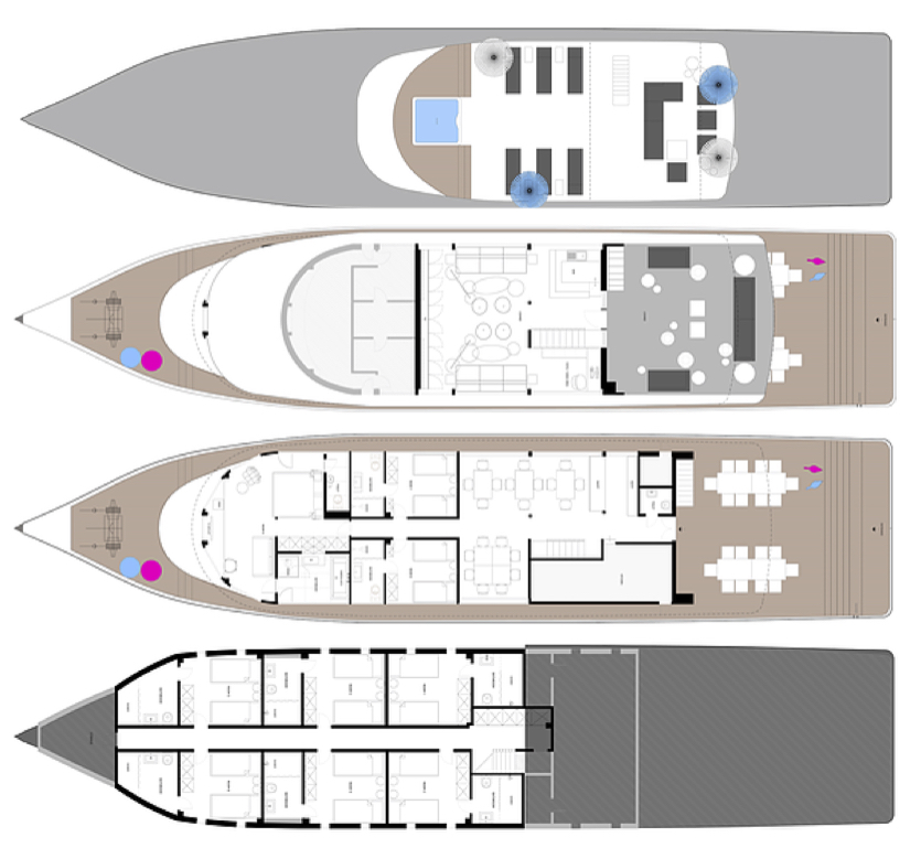 Azalea Cruise Deck Plan plan