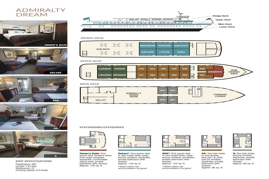Admiralty Dream Deck Plan plan