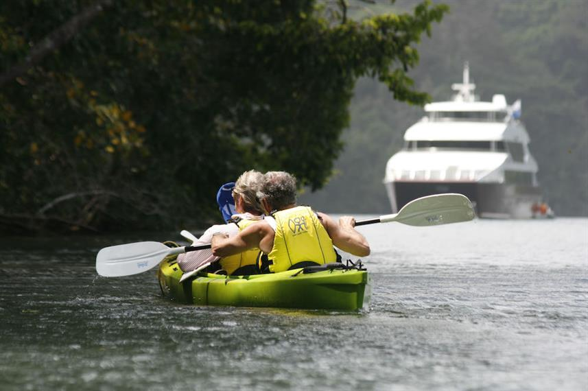 Kayaking down Chagres River