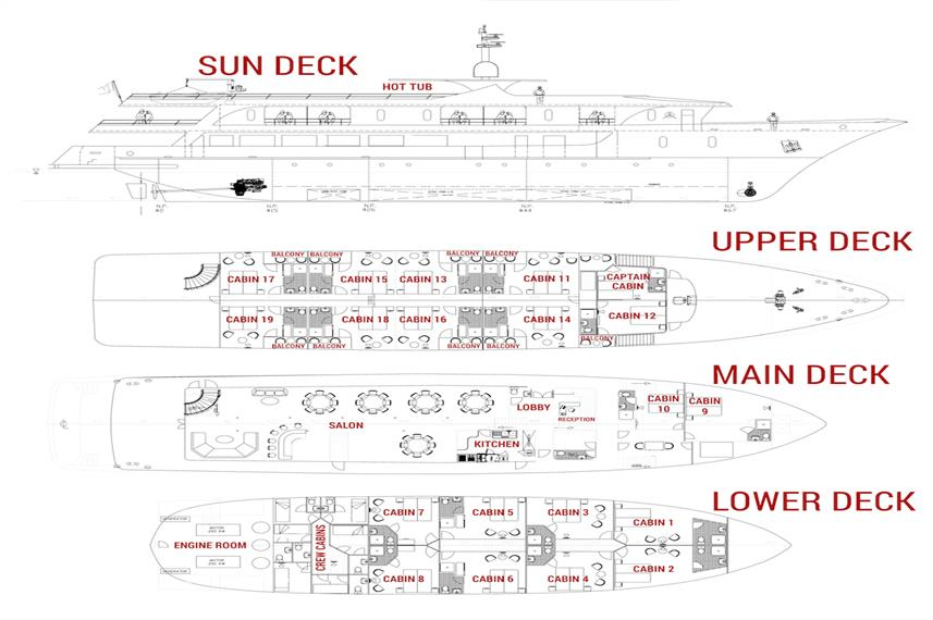 Infinity Deck Plan floorplan