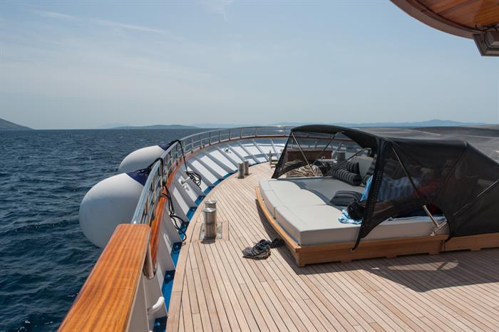 Relaxing on the Bow - MV Futura Croatia