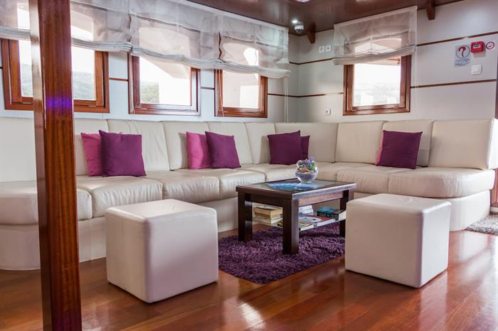 Indoor Lounge area - MV Futura Croatia