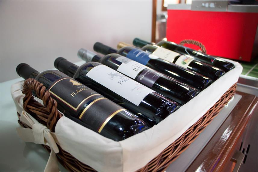 Selection of Wines available - MV Futura Croatia