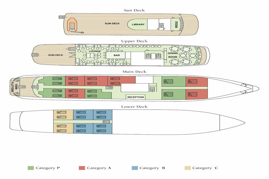 M/Y Callisto Deck Plan floorplan