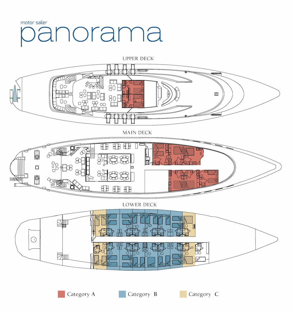 M/S Panorama Deck Plan plan
