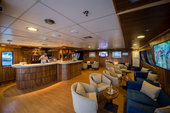 Upper Deck Bar Area - M/S Panorama