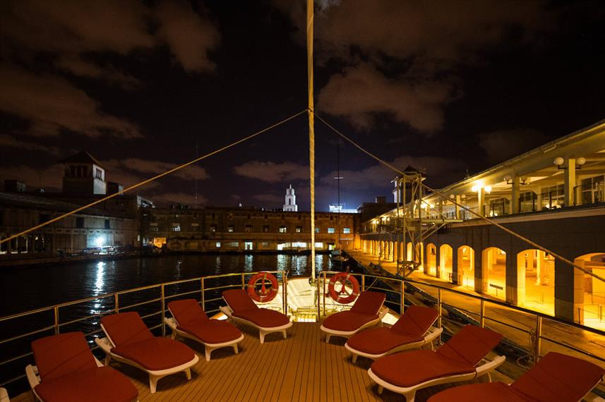 Sun Deck at Night - M/S Panorama