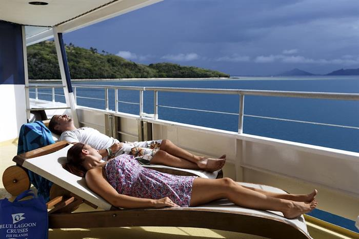 Soaking up the sun aboard the Fiji Princess