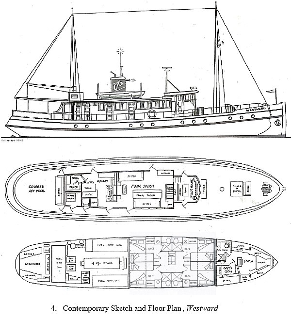 MV Westward Deck Planplattegrond