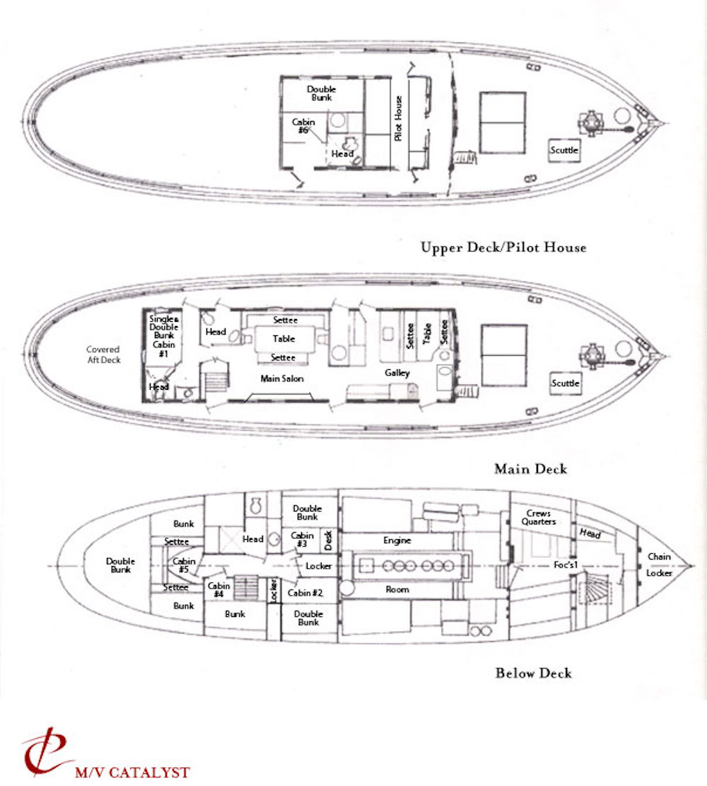 MV Catalyst Alaska Deck Plan floorplan