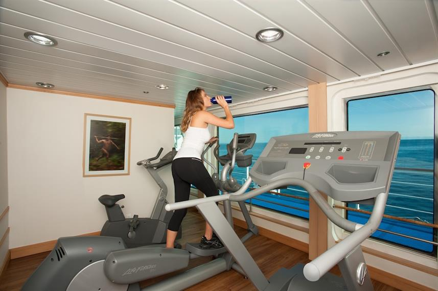 Keep active on board - Gym facilities La Pinta, Galapagos