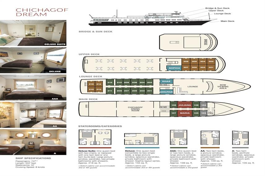 Chichagof Dream Deck Plan plan