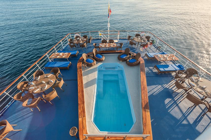 Dining Deck - M/V Galapagos Legend