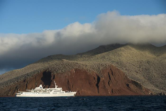 M/V Galapagos Legend at Rabida Island