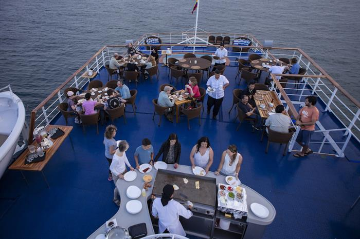 Outdoor Dining Area - M/V Galapagos Legend