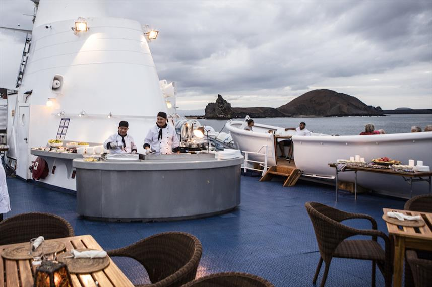 Outdoor Dining Deck - M/V Galapagos Legend
