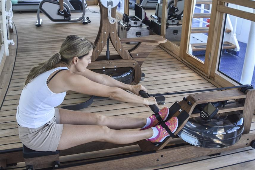 Fully equipped gym aboard the M/V Galapagos Legend