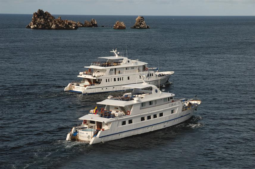 M/Y Coral I and II at Devils Crown Galapagos