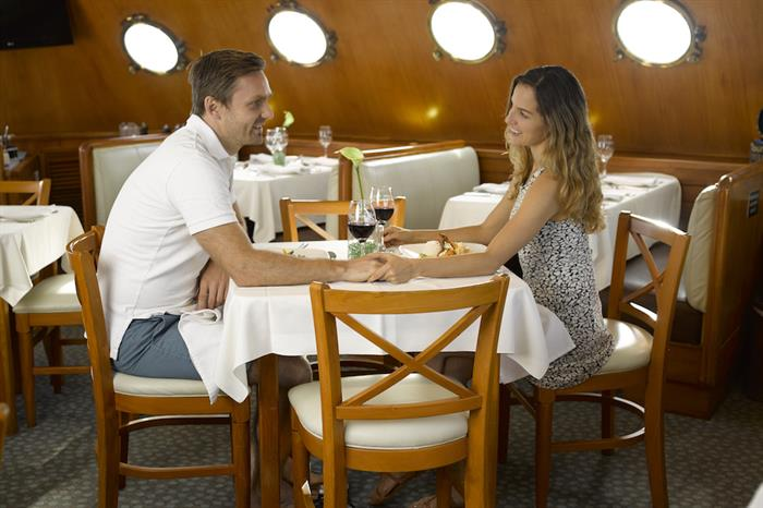 Dining aboard M/Y Coral I and II Galapagos