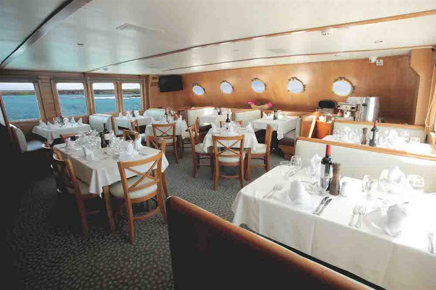 Dining Area - M/Y Coral I and II Galapagos