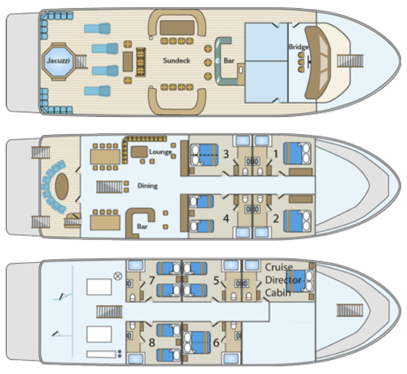 Majestic Explorer Deck Plan 플로어 플랜