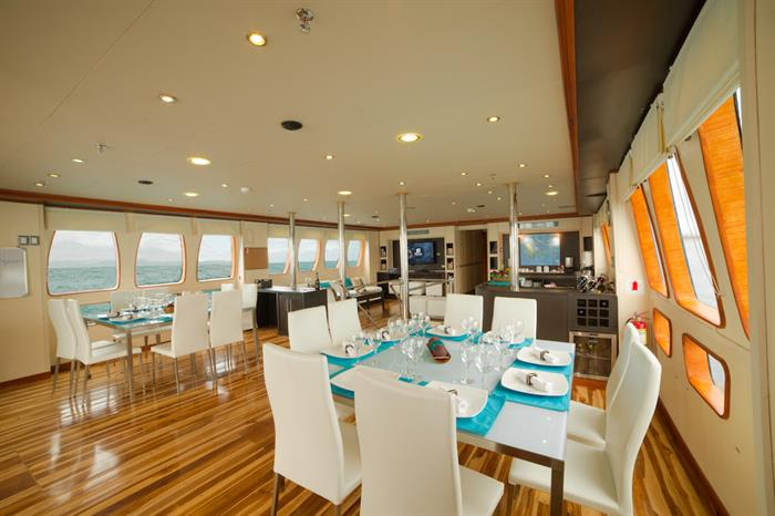 Indoor Dining Area - Majestic Explorer Galapagos