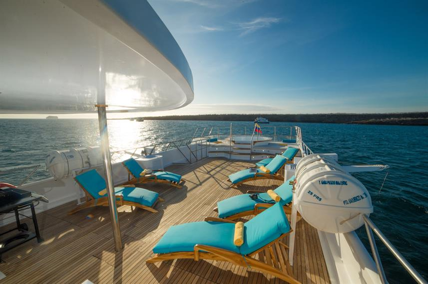 Comfortable Sun Deck with Loungers - Majestic Explorer Galapagos