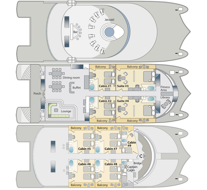 Petrel Deck Plan floorplan
