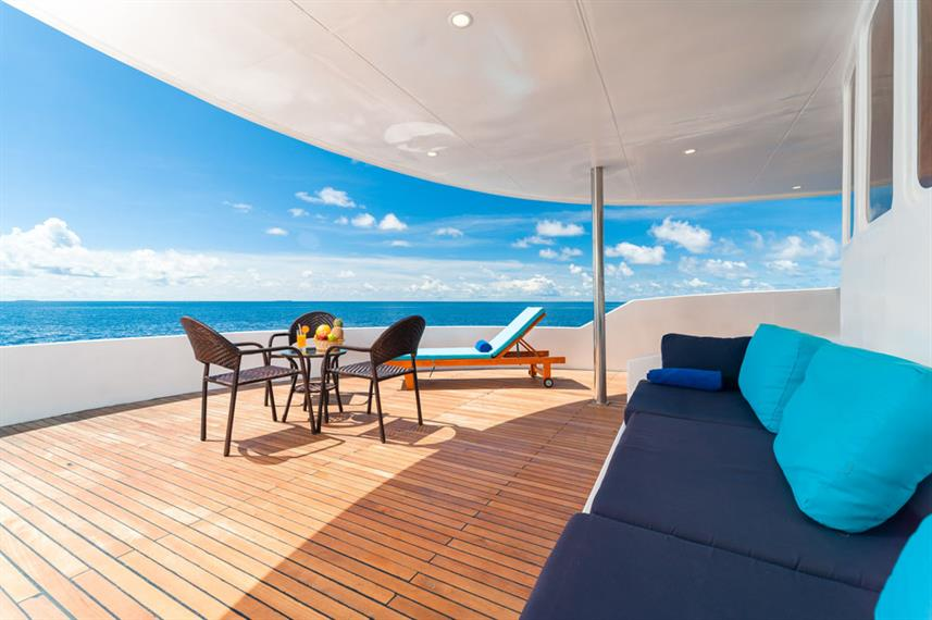 Shaded sundeck - Seafari Explorer Maldives