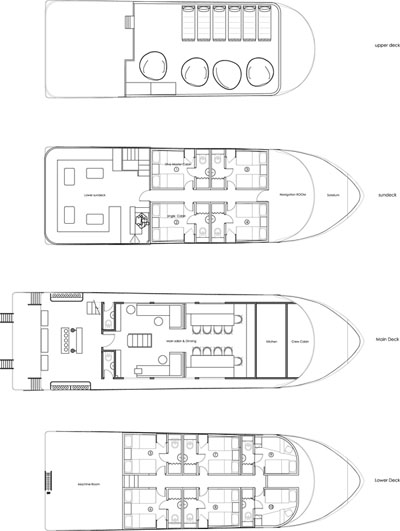 Deck Plan - Red Sea Blue Force 2plattegrond