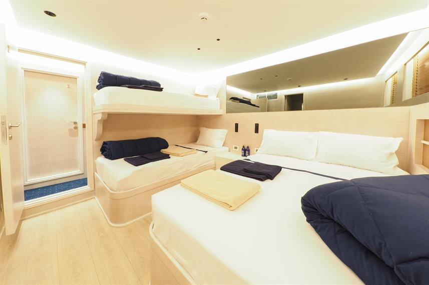 Lower Deck Triple Cabin