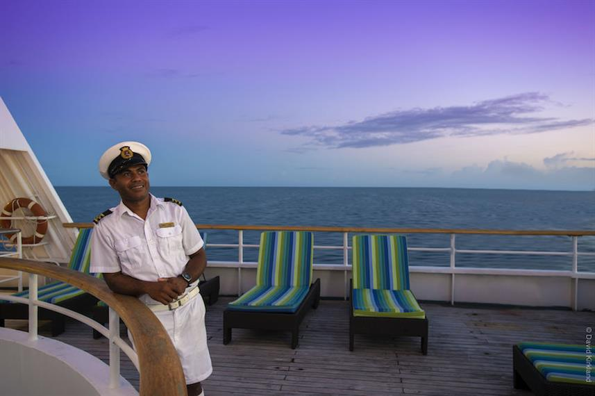 Officer on the B Deck - Reef Endeavour Fiji