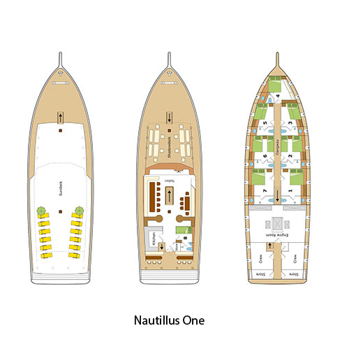 Deck Plan _Nautilus One Maldivesпоэтажный план