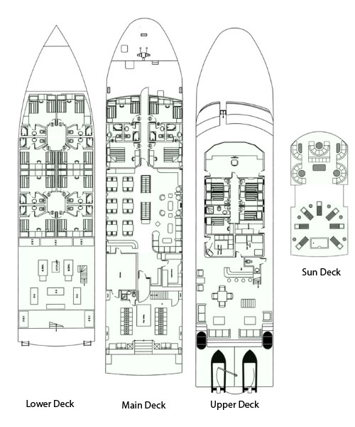 Deckplan - Royal Evolution Egyptplattegrond
